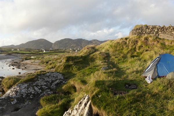 Zelten an Irlands Westküste