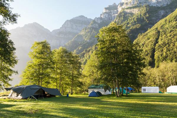 Zelten in der Schweiz