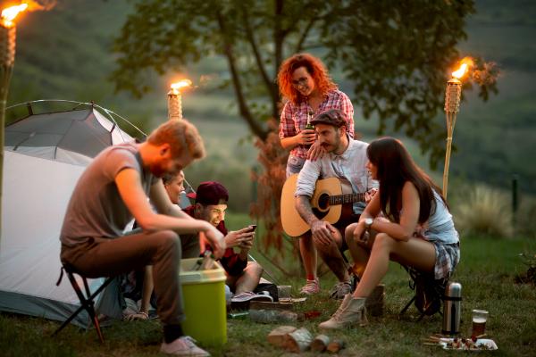Besuch auf dem Campingplatz