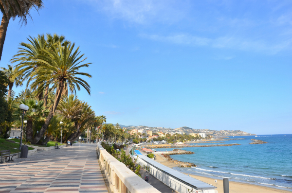 Der Strand von San Remo