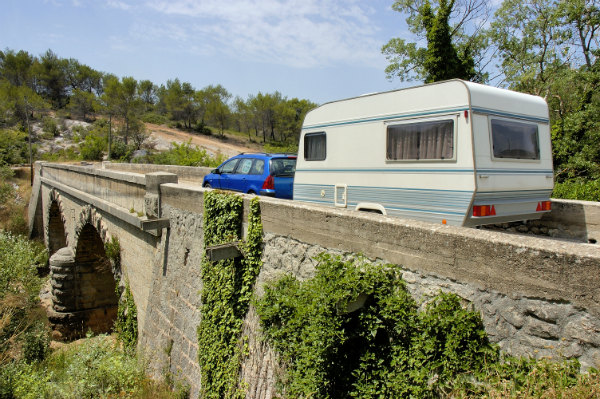 Mit dem Wohnwagen durch Frankreich