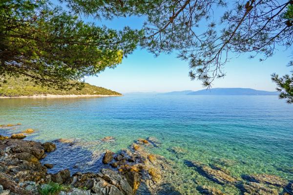 Der wunderschöne Blick von der Insel Cres