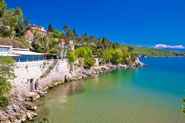 Die wunderschöne Küste von Opatija