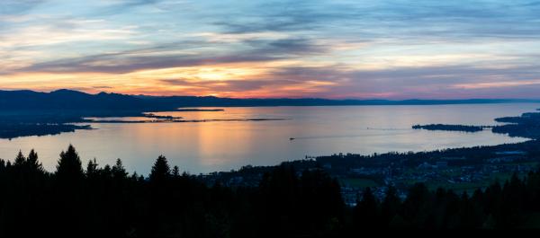 Der Bodensee bei Sonnenuntergang
