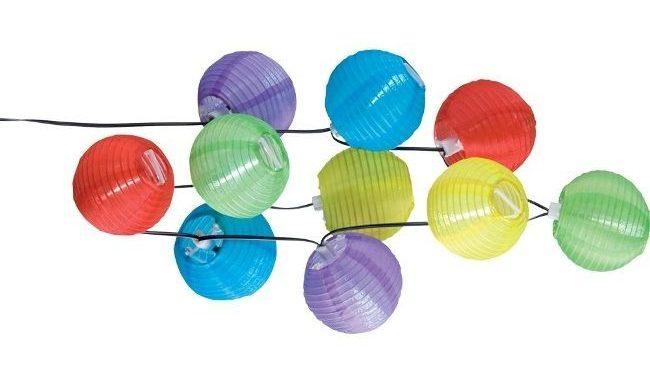 Solar-Lampenkette bunt