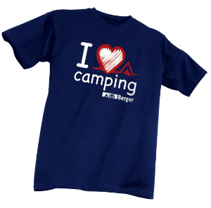Kinder-T-Shirt I love Camping