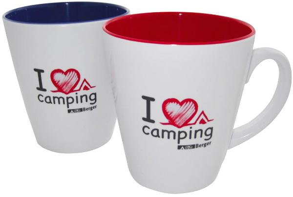 """Melamin Tassen-Set """"I love Camping"""" 2er"""