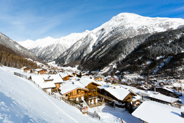 Der berühmte Skiort Sölden
