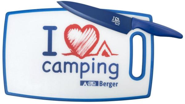 Schneidebrett I love Camping