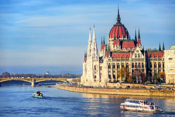 Parlamentsgebaeude in Ungarn