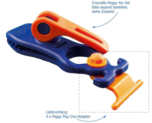 Peggy Peg Croc-Adapter Set