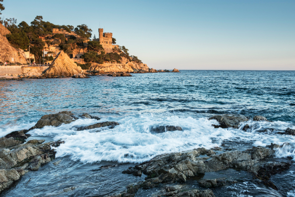 Die malerische Küste bei Lloret de mar