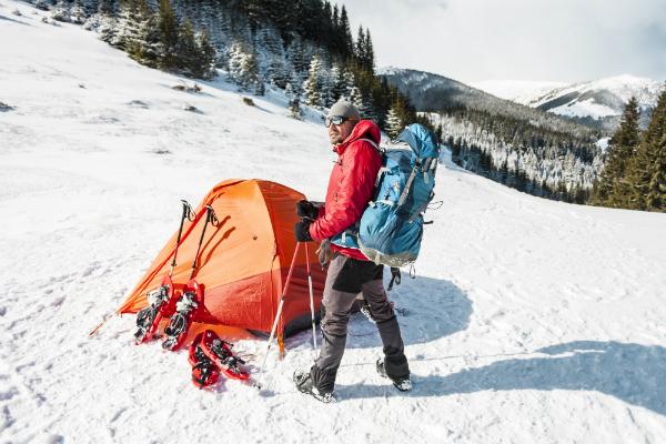 Camping im Schnee