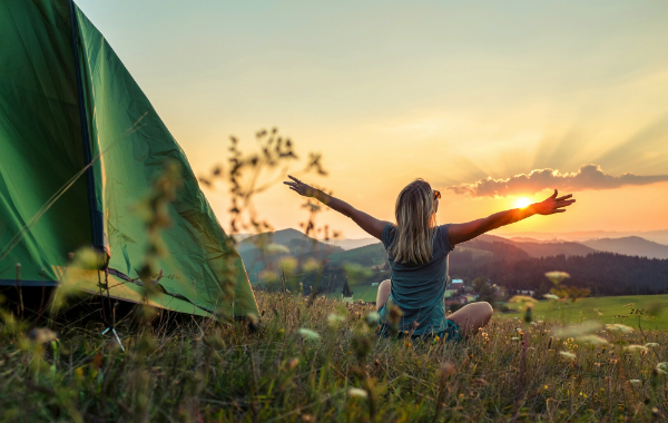 Camping ist pure Entspannung