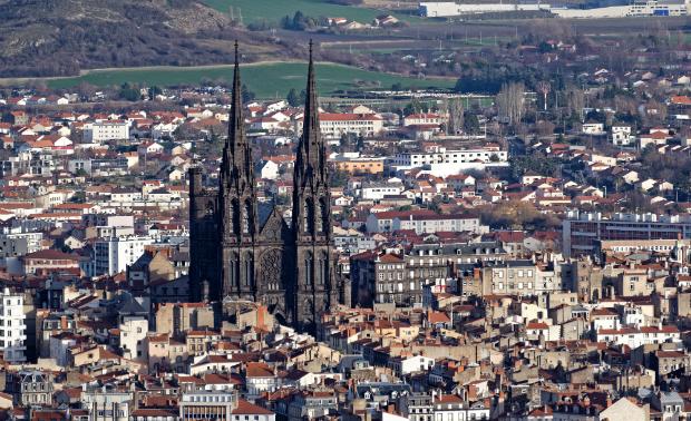 Clermont-Ferrand mit seiner berühmten Kathedrale
