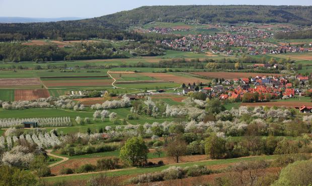 Blick auf Ebermannstadt