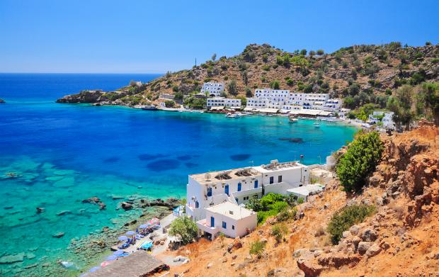 Die malerische Küste von Kreta