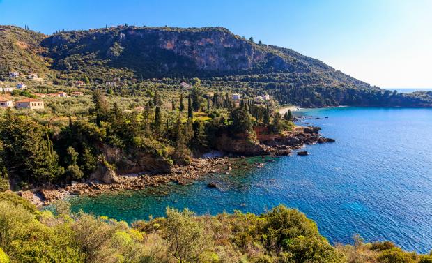 Die Küste von Peloponnes