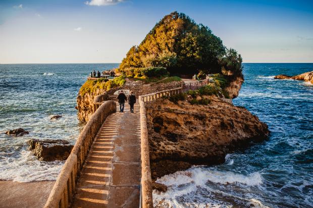 Einfach nur wunderschön: Die Küste und der Strand bei Biarritz