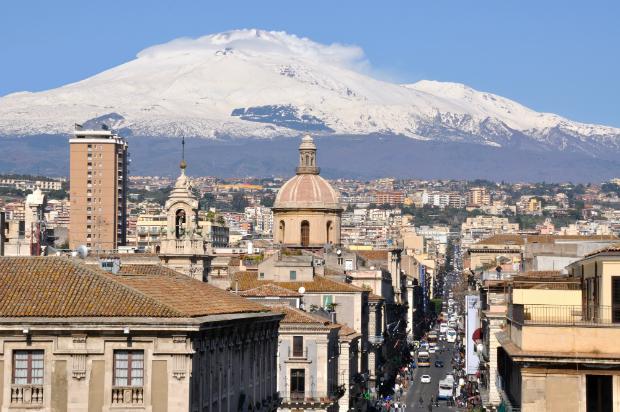 Catania mit großartigem Ausblick