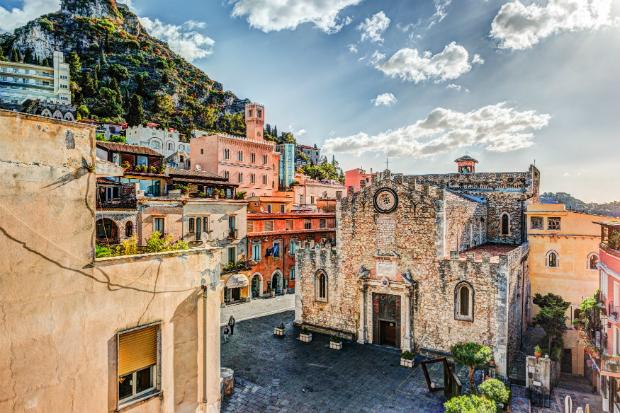 Malerische Altstadt in Taormina