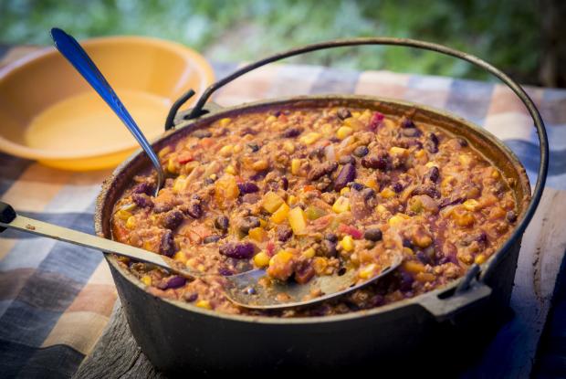 Leckeres Chili Con Carne vom Hockerkocher