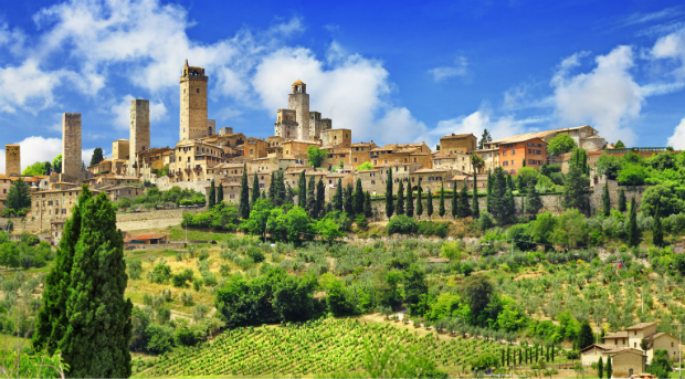 Die berühmte Altstadt von San Gimignano