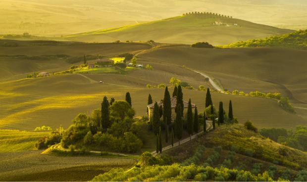 Die malerische Landschaft der Toskana