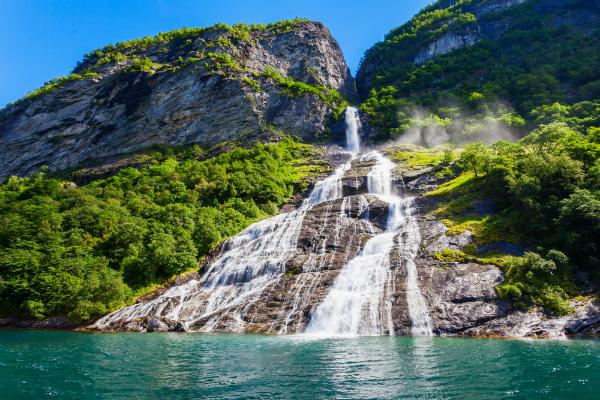 Sieben Schwestern Wasserfall Norwegen