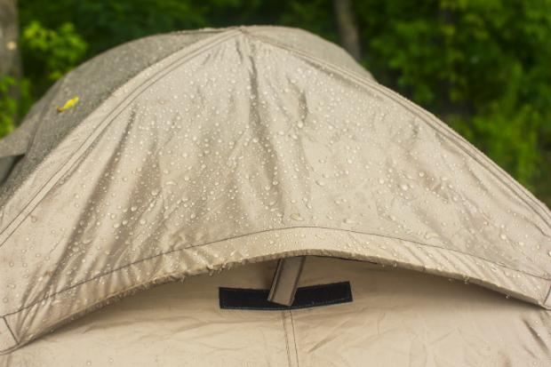 Nicht jedes Zelt ist für starken Regen geeignet