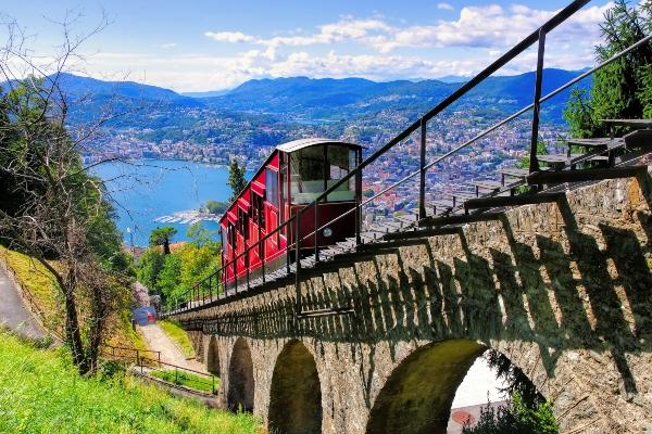 Lugano Standseilbahn Luganersee Schweiz schweizer-campingtour