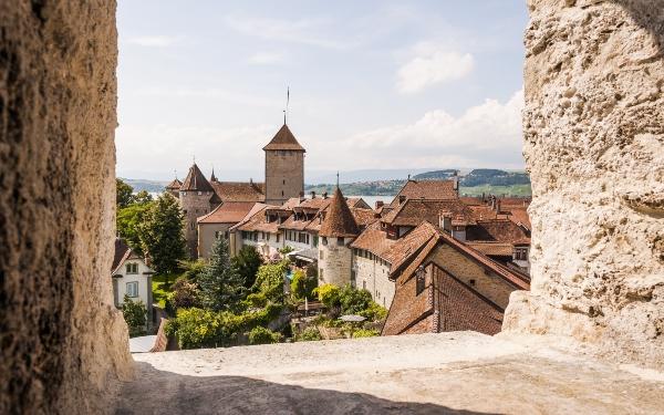 Murten historische Altstadt Schweiz