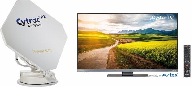 Sat-Anlage Cytrac mit Fernseher