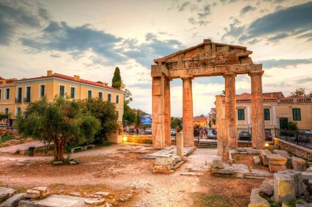 Die Agora von Athen