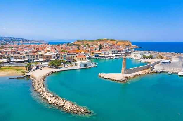 Der venezianische Hafen von Retyhmnon