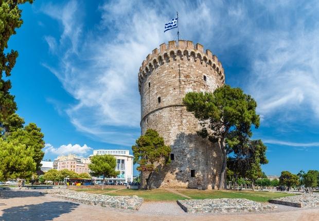 Das Wahrzeichen von Thessaloniki - der Weisse Turm