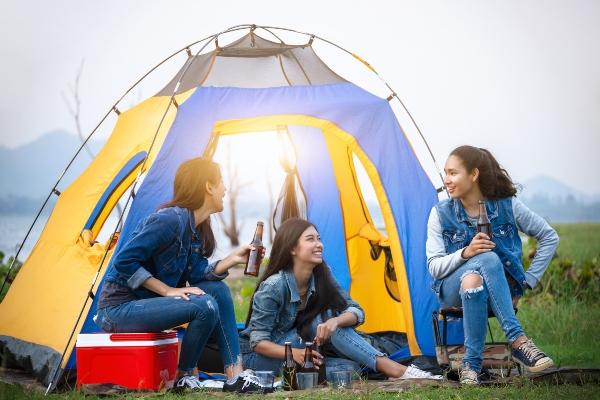 Campen mit Teenagern