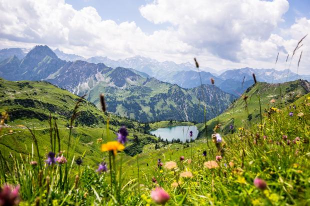 Seealpsee in den Allgäuer Bergen - Camping im Allgäu