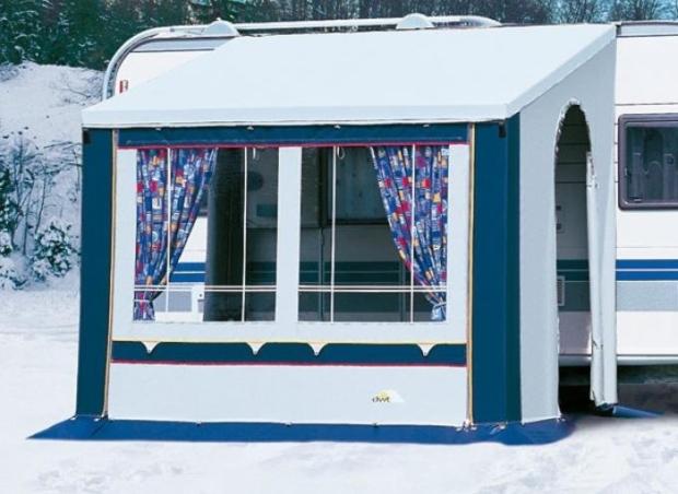 Teilvorzelt CORTINA II blau - geeignet für Camping Dauerstellplatz