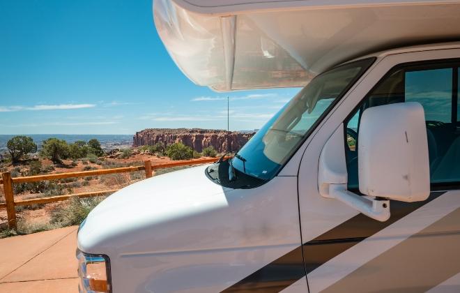 Camper beim Grand Canyon - Mit dem Wohnmobil durch die USA