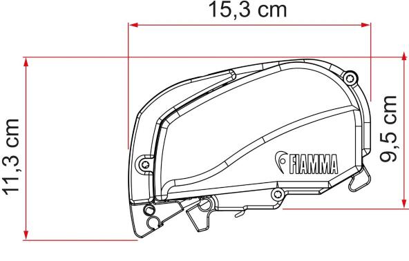 "Produktinformationen ""Fiamma F80S Titanium 320 cm grau Dachmarkise"""