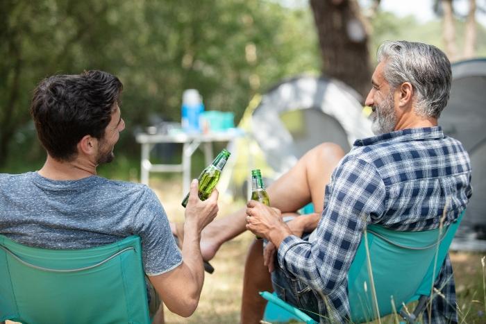 Trotz des geringen Gewichts sind die Sessel stabil und bieten idealen Sitzkomfort Campingsessel