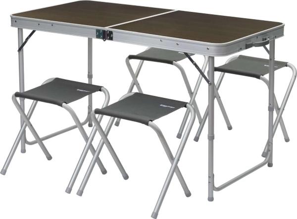 berger-solo-4-hocker-picknicktisch-60-x-120-cm Campingmöbel Sets