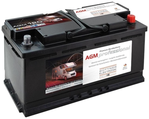 Bordbatterie AGM 120 Ah Stromversorgung beim Camping