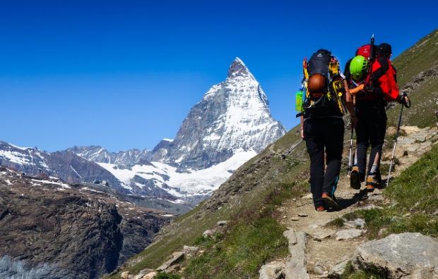 Wandern am Matterhorn im Herbst 2021