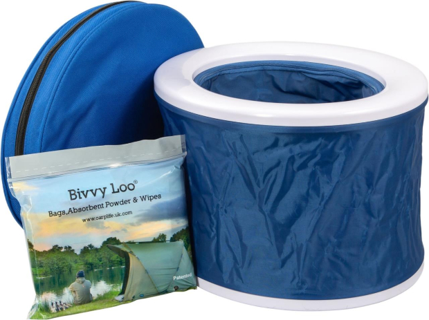 Bivvy Loo tragbare Campingtoilette inkl. Tragetasche Blue