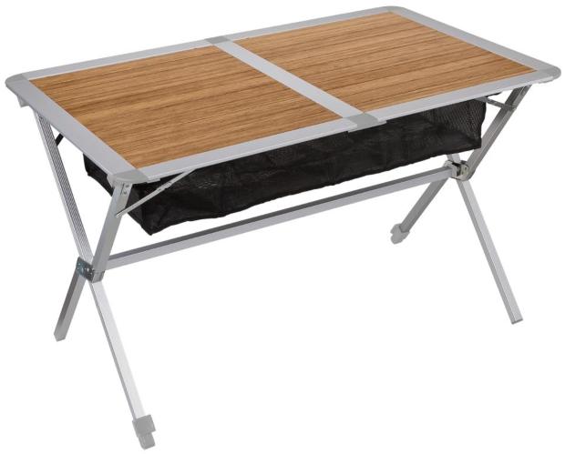 Berger Bambus-Alu Rolltisch 115 x 75 cm