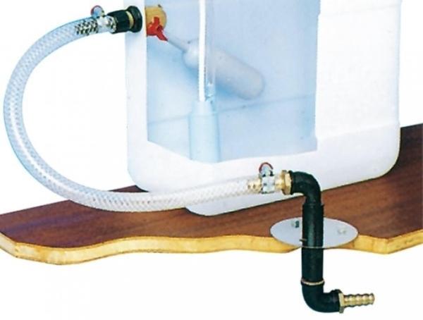 Aussenanschluss mit Bodendurchführung für City-Wasseranschluss
