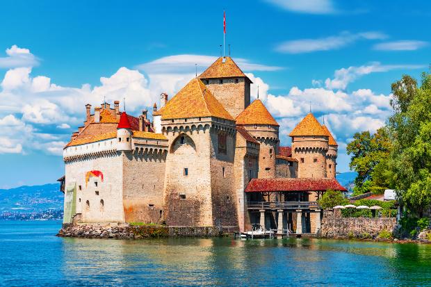 Schloss Chillon am Genfer See - Die schönsten Schweizer Seen