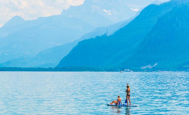 Stand Up Paddeln - Die schönsten Orte für Camping in den Bergen